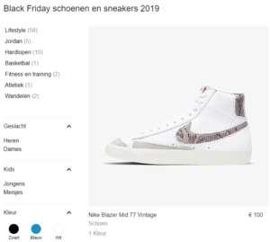 schoen in de aanbieding tijdens Nike Black Friday