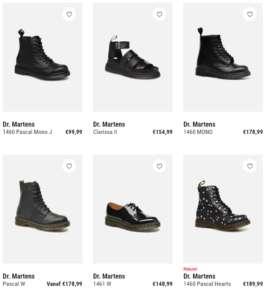 6 schoenen van drmartens