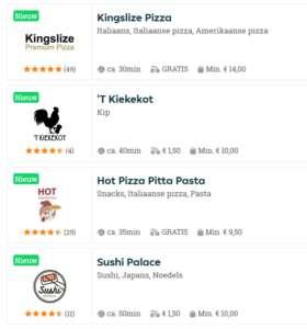 takeaway 4 restaurants in gent