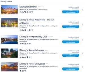 5 eurodysney hotels
