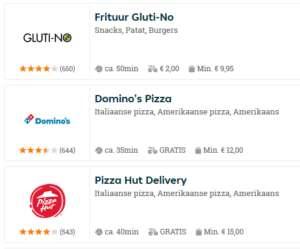 pizza bestellen 3 keuzes