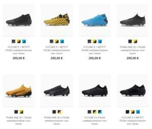 8 voetbalschoenen van Puma
